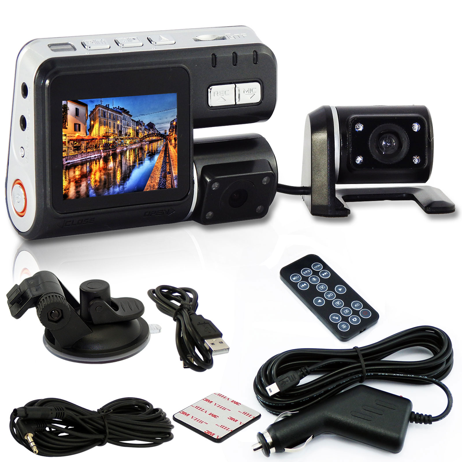Dual lens Nightvision Car DVR Recorder