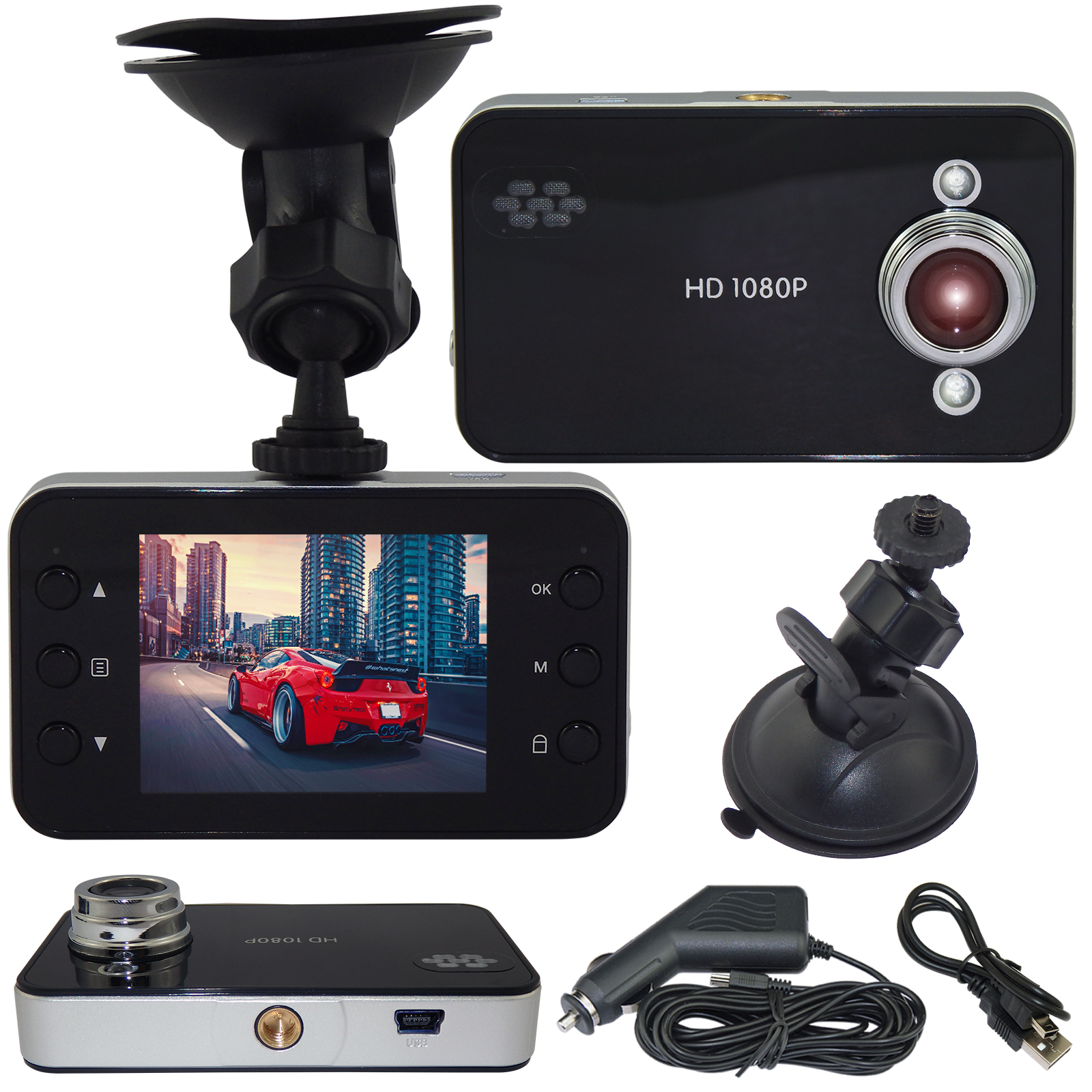 1080P HD Car Video Recorder Night Vision