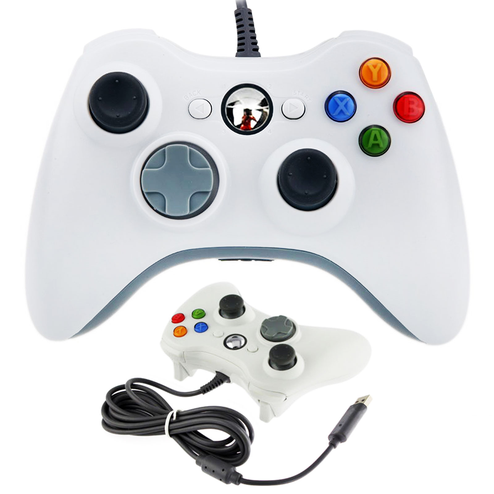 USB Wired Joystick For Xbox 360 PC Windows White