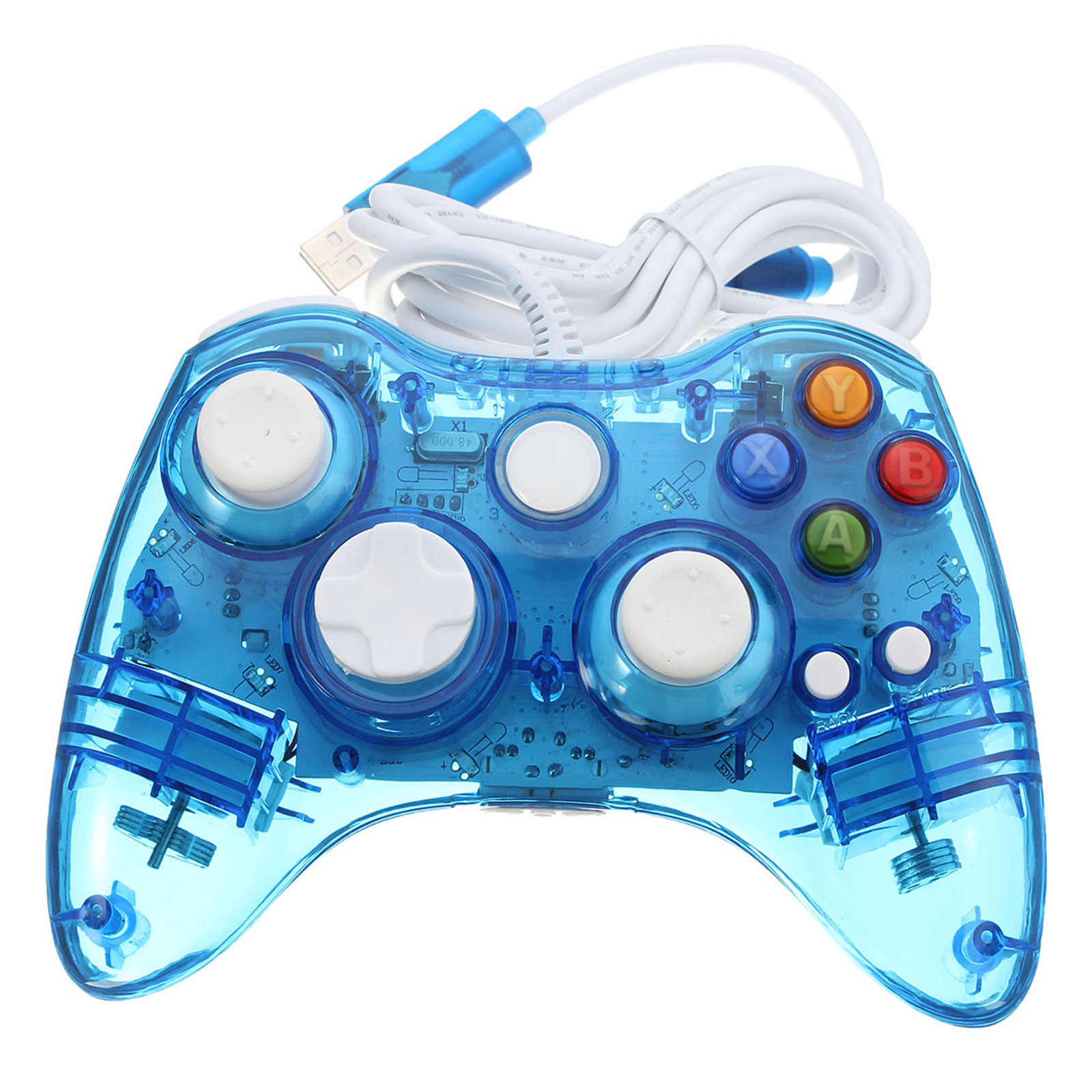 Blue USB Xbox 360  Gamepad For Xbox 360 PC